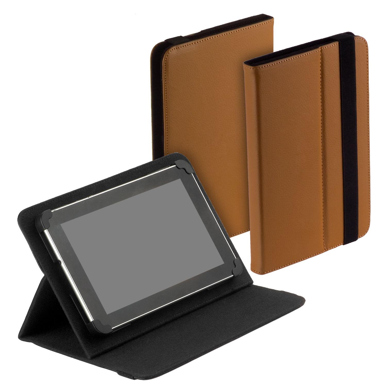 universal book style tablet tasche braun f r chuwi hi10. Black Bedroom Furniture Sets. Home Design Ideas