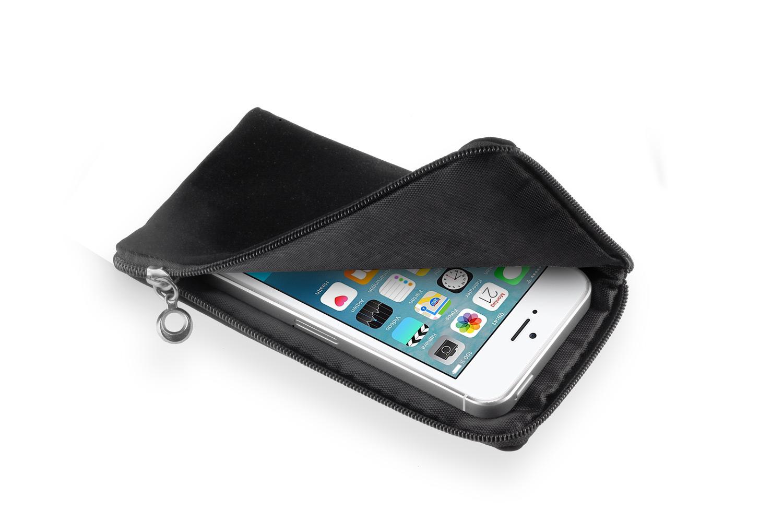 softcase schwarz f apple iphone se tasche reissverschlu. Black Bedroom Furniture Sets. Home Design Ideas